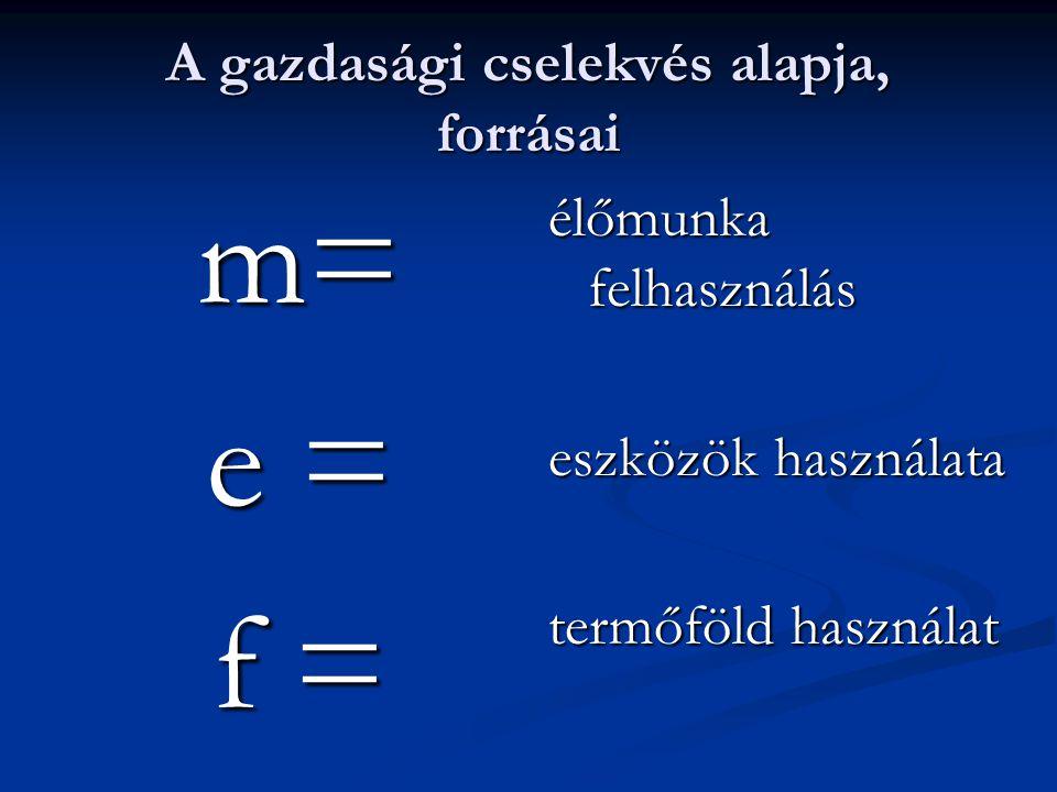 t m + e á+f + f Komplex hatékonysági összefüggés