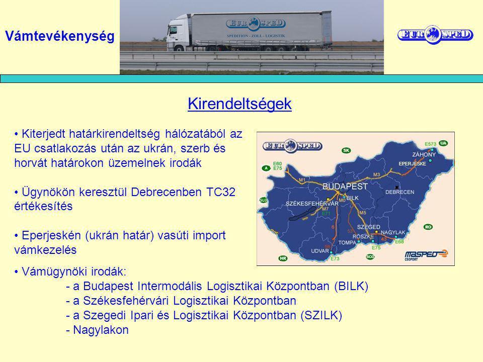 határspedíciós tevékenység okmánykiállítás és vámeléállítás (TIR, T2L, rakományjegyzék, stb) útdíjra vonatkozó okmánybélyeg árusítása T-1 okmány kiállítása (TC32-vel, TC31-vel) szabadforgalomba helyezés kiviteli vámkezelés RO-LA Autópálya-matrica Vámszolgáltatásaink határátkelőkön: Vámtevékenység