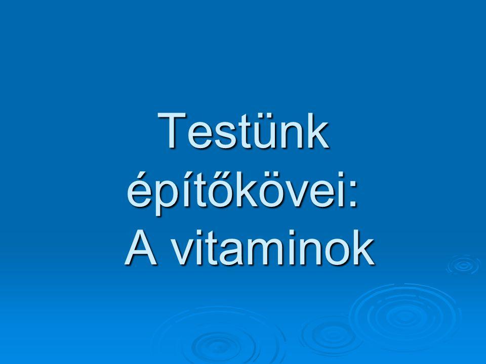 Vitamin  A vitaminok az emberi szervezet számára nélkülözhetetlen, kis molekulájú, különféle kémiai összetételű biológiailag aktív szerves vegyületek.