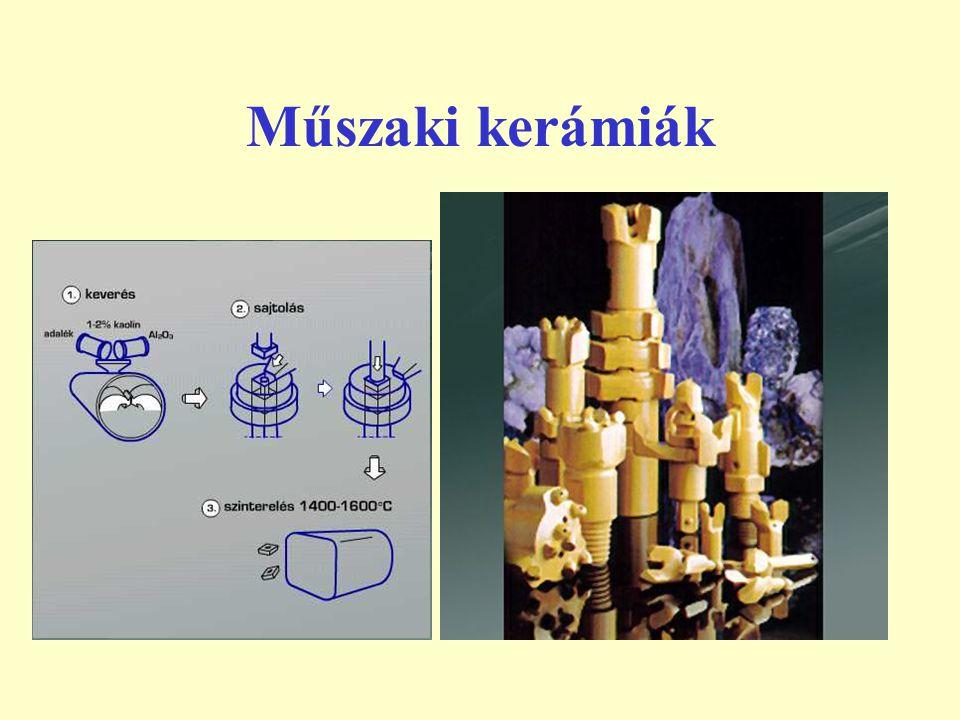 Oxidkerámiák Az oxidkerámiák alapanyaga alumíniumoxid, cirkóniumoxid, titánoxid, magnéziumoxid és berilliumoxid.