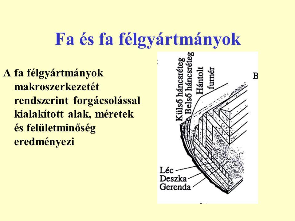 Faanyagok tulajdonságai A fa erősen anizotróp és inhomogén.