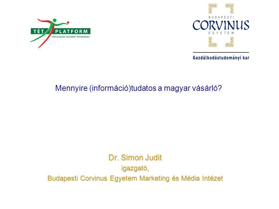 Magyarországi kutatási terv Módszer: Bolti megfigyelés a termékkategóriát tartalmazó polcnál - 2488 megfigyelés Bolti megkérdezés a megfigyelt termékkategória vásárlói körében - 1804 megkérdezés Otthoni megkérdezés, önkitöltős kérdőívvel - 703 megfelelően kitöltött kérdőív A vizsgálta tárgya és helyszíne: 6 kategória: készételek, szénsavas üdítőitalok, joghurtok, reggeli gabonapelyhek, édességek és sós ropogtatnivalók Adatfelvétel: hipermarketek, ahol a vásárlók nagy választékkal találkoznak A minta: A válaszadók 70%-a nő, 30%-a férfi Viszonylag magas a fiatalabb vásárlók aránya A megkérdezettek 40%-ának van 16 évesnél fiatalabb gyermeke a háztartásában Országok: Nagy-Britannia, Franciaország, Svédország, Lengyelország, Németország, Magyarország Minden országban egységes módszertan