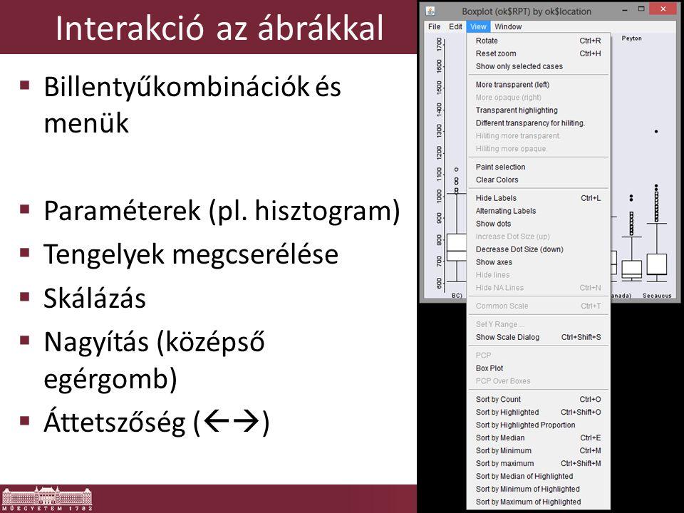 """iPlots alternatívák: Acynonix  """"iPlots eXtreme  OpenGL gyorsítás  Kiforrottság?"""