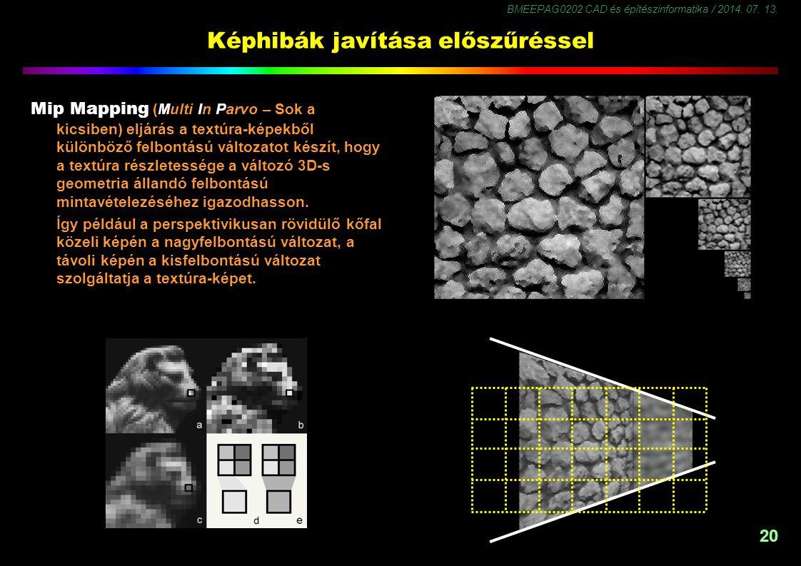 BMEEPAG0202 CAD és építészinformatika / 2014. 07. 13. 21 Árnyalások - 1 Ray trace árnyalás
