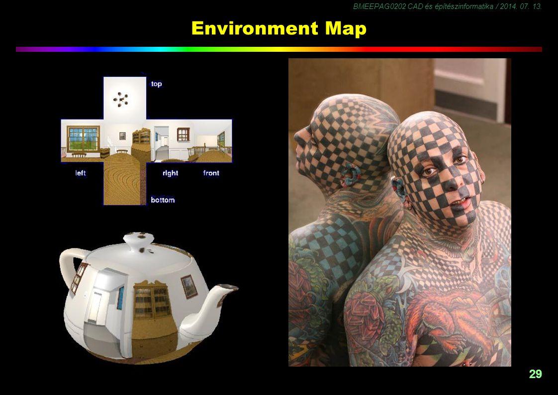 BMEEPAG0202 CAD és építészinformatika / 2014. 07. 13. 30 Árnyalások - 1 Fényforrások