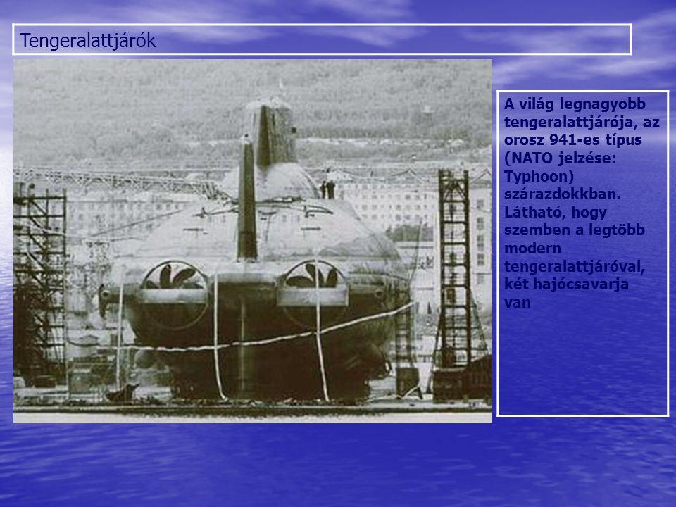 Tengeralattjárók A már lassan 10 éve készülő következő orosz rakétahordozó tengeralattjáró-típus, a Borej-osztály modellje.