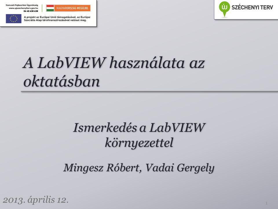 Tartalom Információ Tűz és munkavédelem Bevezetés a LabVIEW környezetbe Szorgalmi feladat A fejlesztői környezet megismerése Adminisztráció 2