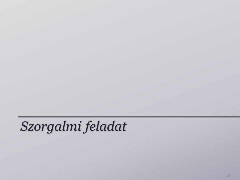 Összetett programok Programok folyamatos bővítése ⇒ elbonyolódó programok Tervezési minták: – Átláthatóság – Karbantarthatóság 38