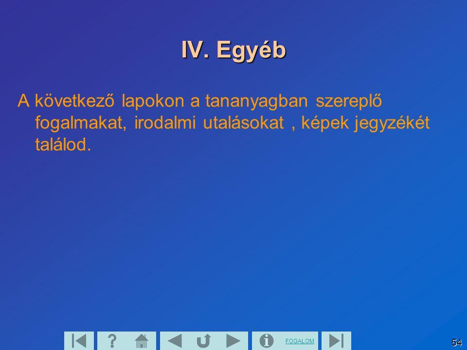 FOGALOM 55 IV.1.Fogalmak (visszautalás az új fogalmakra ) Metsző, párhuzamos, kitérő egyenesek.
