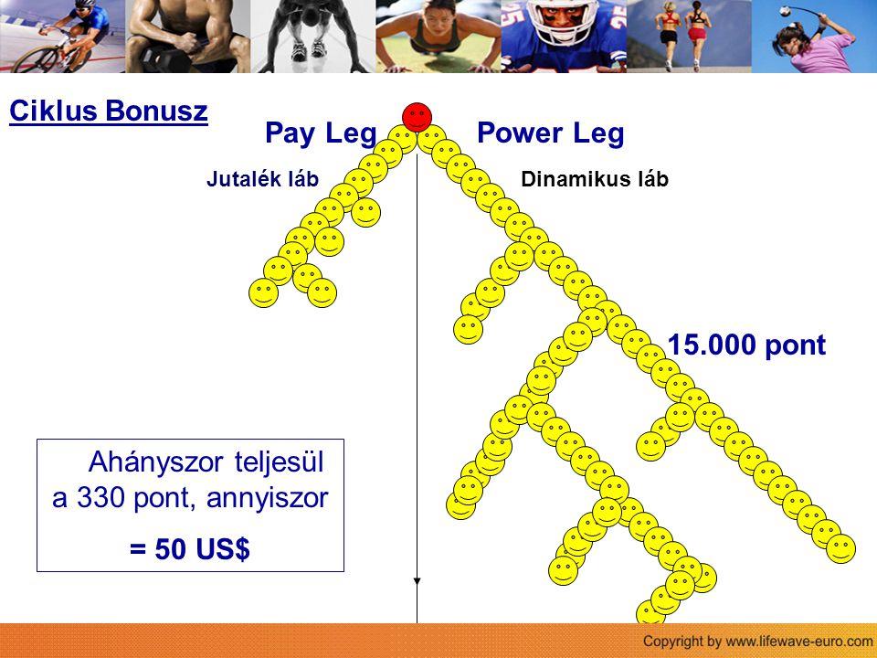 Sie 330 pont: - 1 arany + 1 bronz - 2 ezüst - 6 bronz - 6 havi csomag, vagy megrendelés Ciklus Bonusz