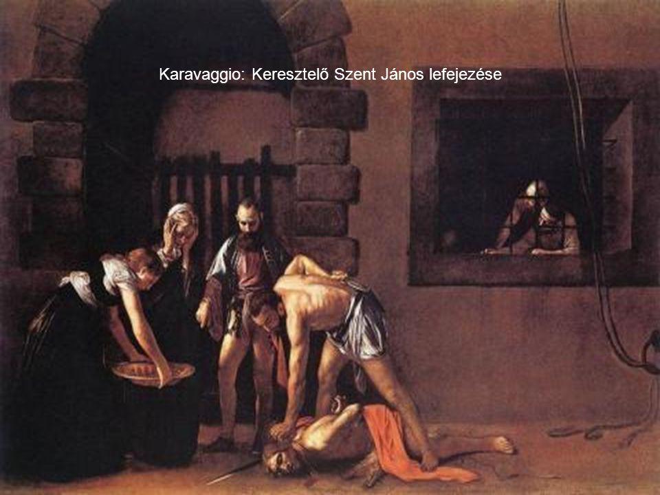 Karavaggio: Keresztelő Szent János lefejezése