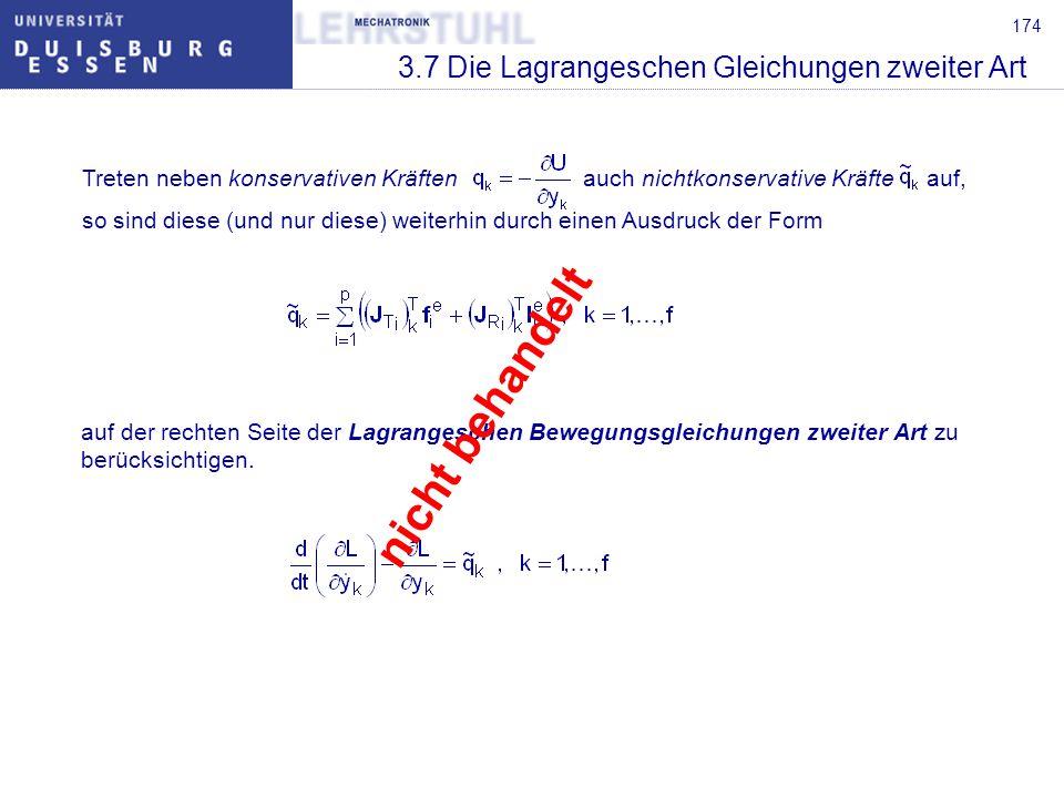 175 3.7 Die Lagrangeschen Gleichungen zweiter Art Beispiel:Doppelpendel (vgl.