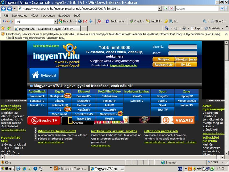 Komm. rendsz. 12 előadás 2010. december 6. 46