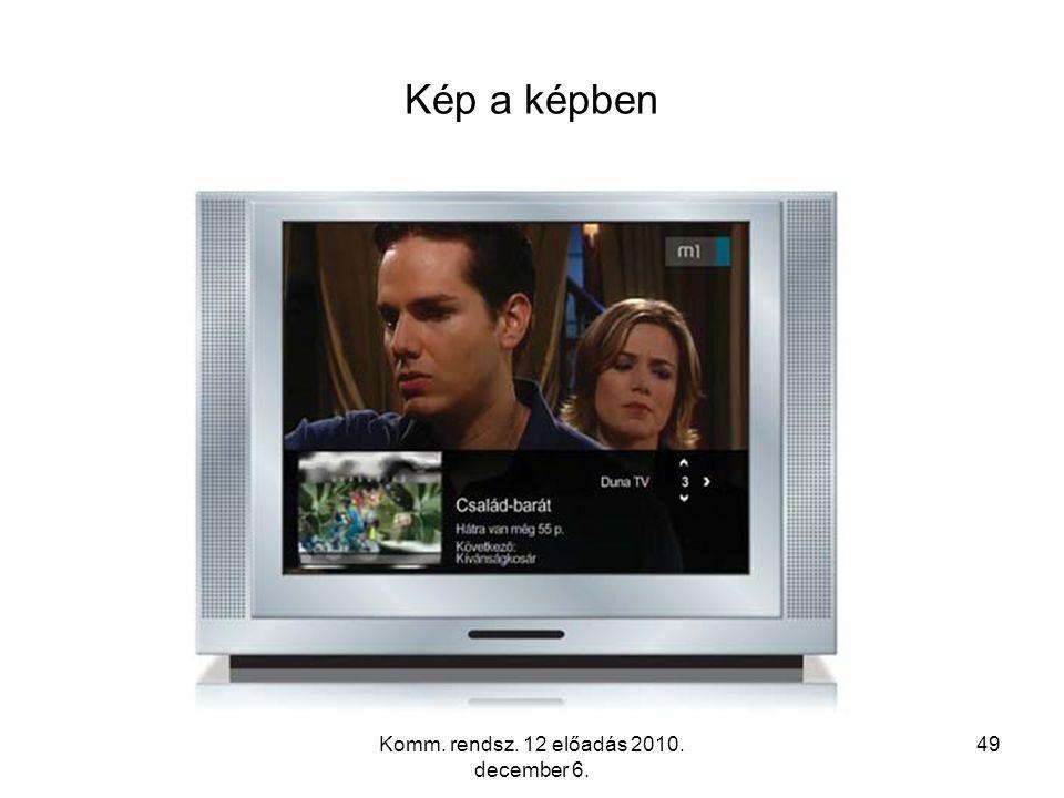 Komm. rendsz. 12 előadás 2010. december 6. 49 Kép a képben