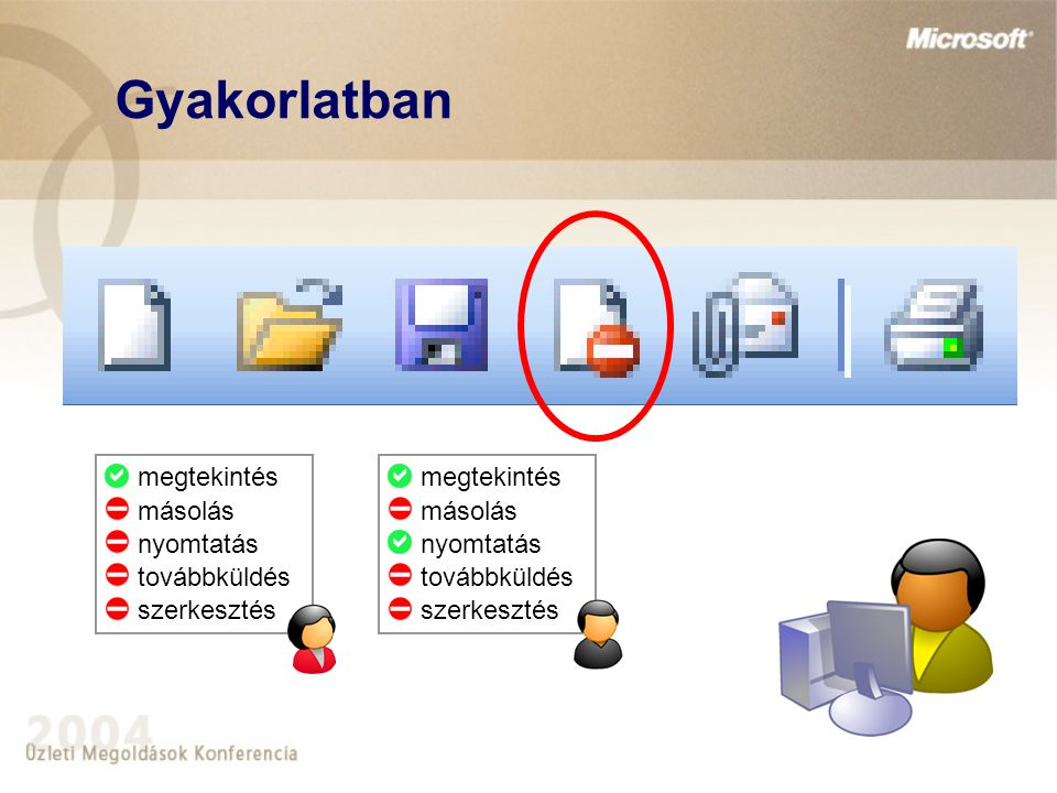 Gyakorlatban Rights Management Server