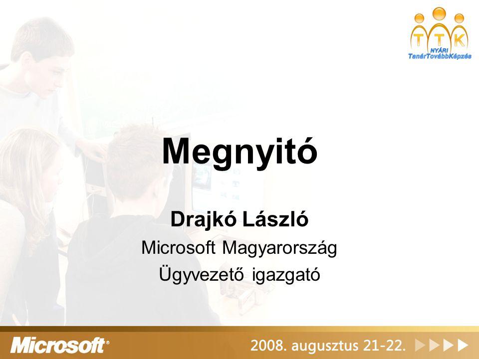 A Pil program eredményei Merényi Ádám Microsoft Magyarország