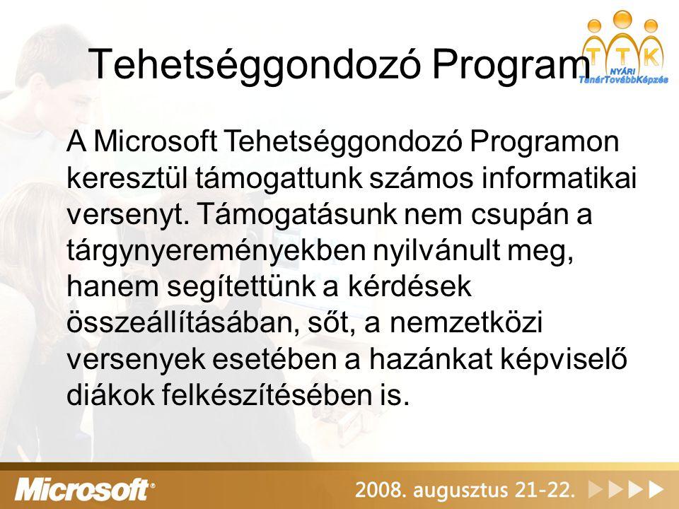 Microsoft Konzultációs Körút A Microsoft Konzultációs Körúton 130 iskolát látogattunk meg, és segítettünk tanáraiknak, rendszergazdáiknak a technológiai és egyéb kérdéseik megválaszolásában.