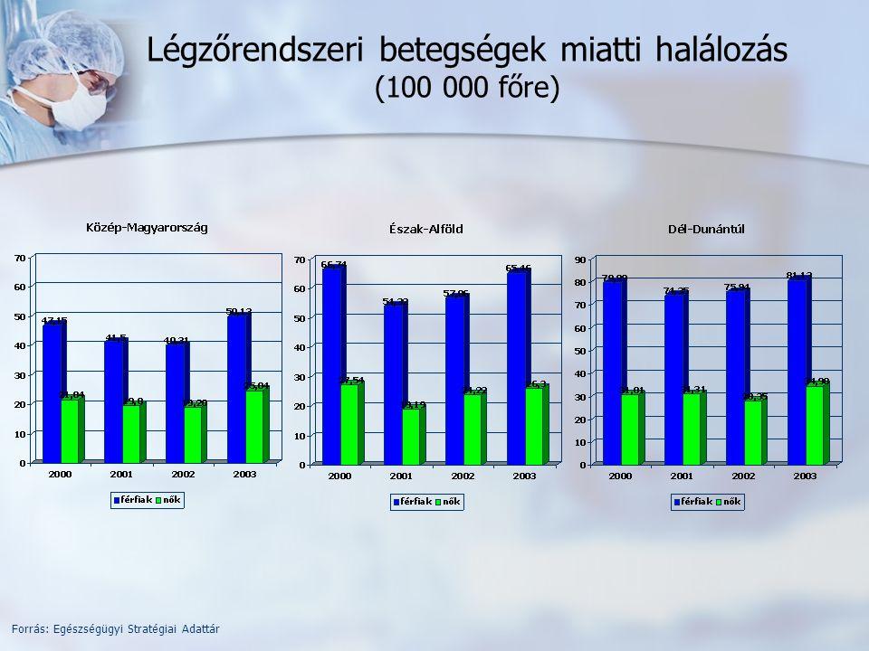 Társadalmi-gazdasági mutatók Forrás: Egészségügyi Stratégiai Adattár