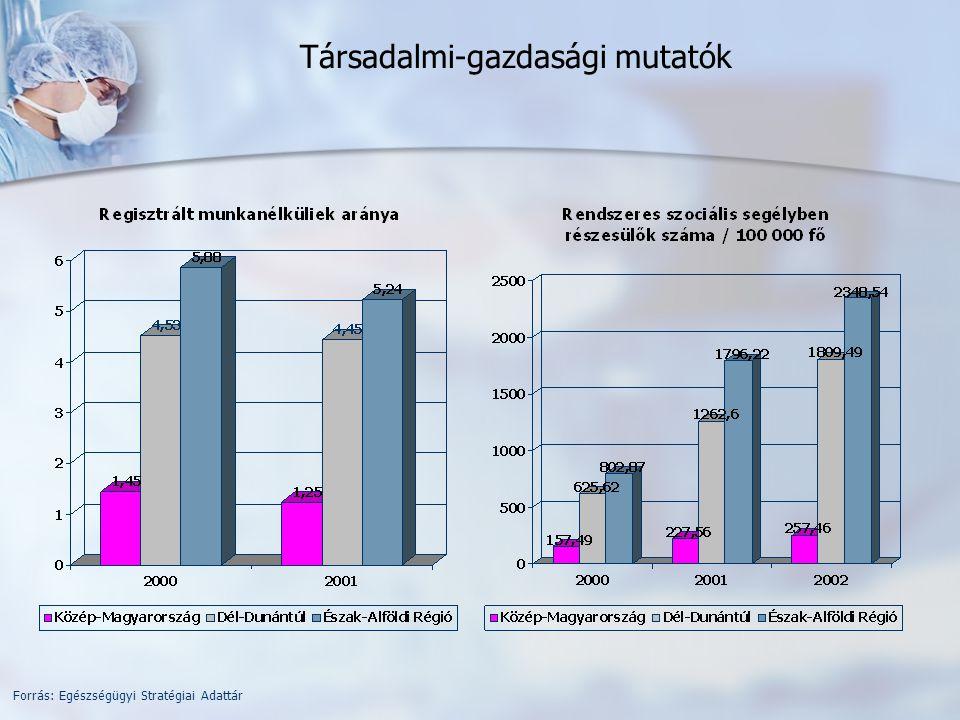 Fekvőbeteg-intézetek aktív ellátás adatai (2005) Forrás: Kórházi ágyszám és betegforgalmi kimutatás OEP FIFO