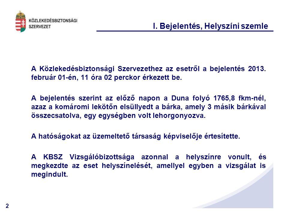 3 I. Bejelentés, Helyszíni szemle A helyszínen ez a látvány fogadta a Vizsgálóbizottságot