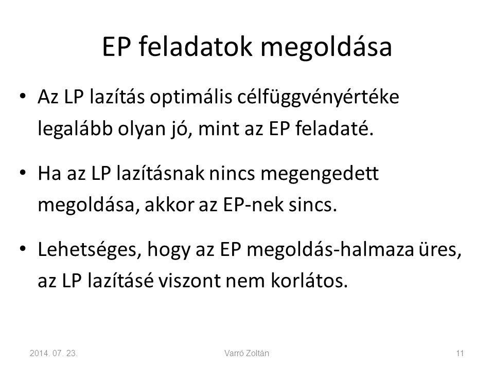 EP feladatok megoldása 2014.07.