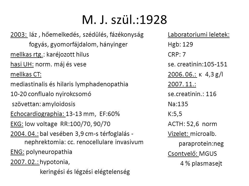 Gastroscopia 2003.15 anaemiás nyh., pylorus felett polypoid képlet.