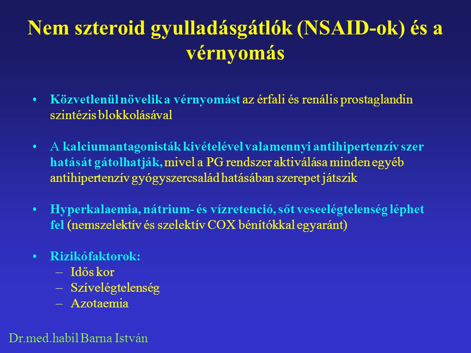 Dr.med.habil Barna István Non-selective NSAIDs and coxibs are commonly used both in RA and in OA.