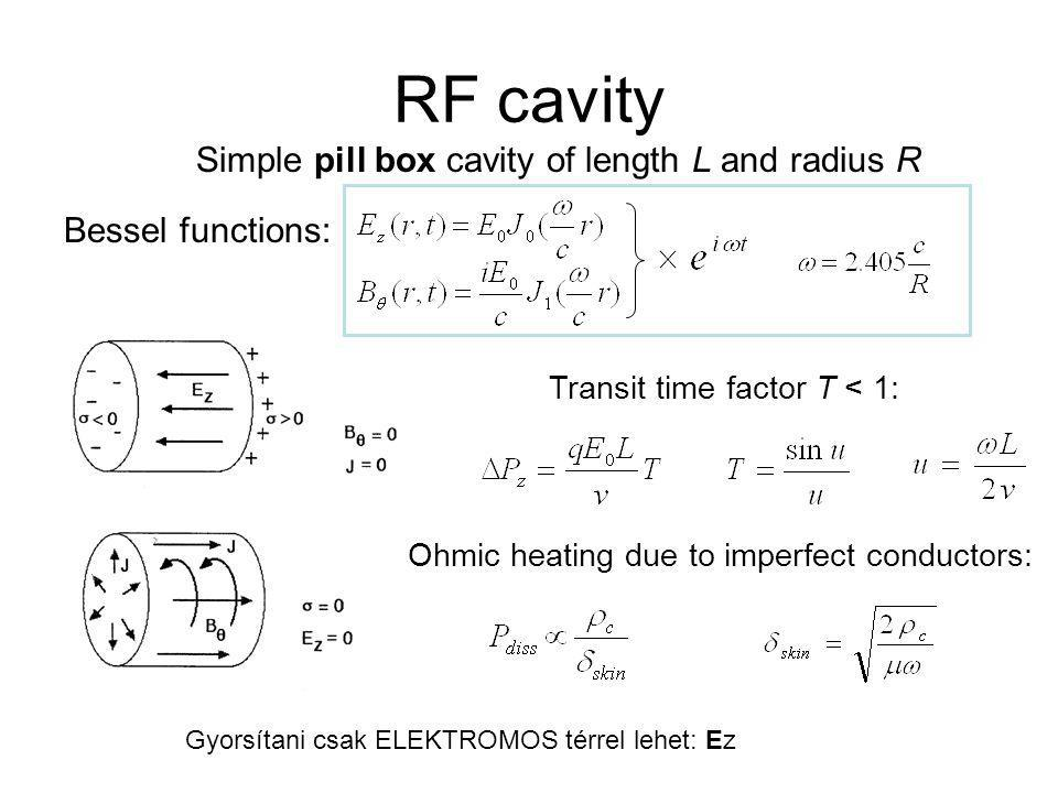 cavity array field pattern: pipe geometry such that RF below cut-off (long and narrow) side-coupled structure in π/2-mode behaves as π-mode as seen by the beam coupling