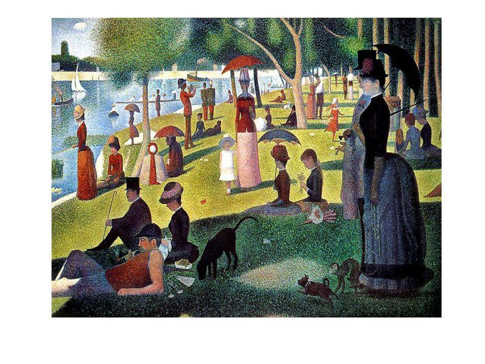 """Seurat: """"A szem recehártyáját érő fényhatások meghatározott időbeli jelenségek....."""