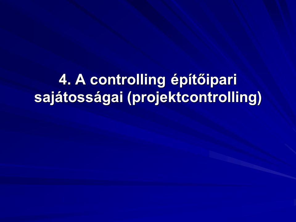 A kontrolling helyzetét megnehezítő sajátosságok A kontrolling helyzetét megnehezítő sajátosságok A termelés folyamatos, az árbevétel megjelenése ciklikus.