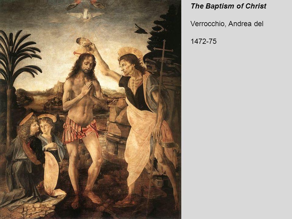 The Baptism of Christ (detail by Leonardo da Vinci) 1472-75