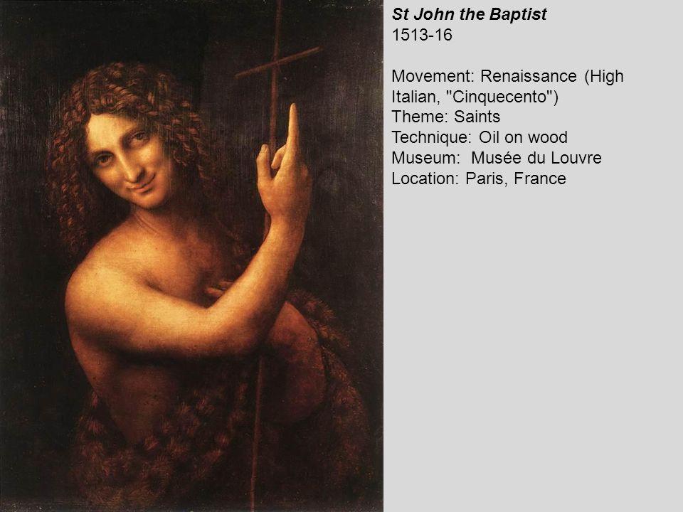 St John in the Wilderness (Bacchus) 1510-15 Movement: Renaissance (High Italian, Cinquecento ) Theme: Saints Technique: Oil on canvas Museum: Musée du Louvre Location: Paris, France