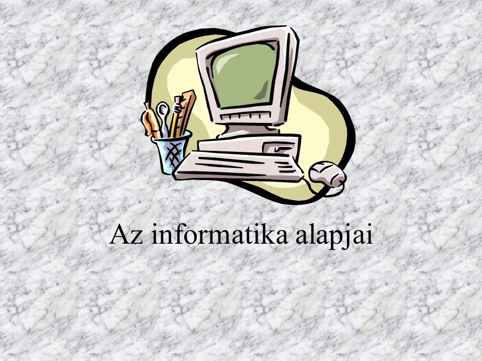 A számítógép mint adatfeldolgozó eszköz Adat: az objektumok mérhető és nem mérhető tulajdonságai.
