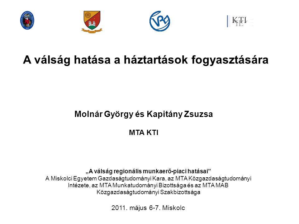 Forrás: KSH: Nemzeti számlák: http://portal.ksh.hu/pls/ksh/docs/hun/xstadat/xstadat_eves/i_qpt007.html A háztartások összetétele, fogyasztása: http://portal.ksh.hu/pls/ksh/docs/hun/xstadat/xstadat_eves/i_zhc004.html A háztartások nettó jövedelme és fogyasztása a nemzeti számlák alapján 2000=100