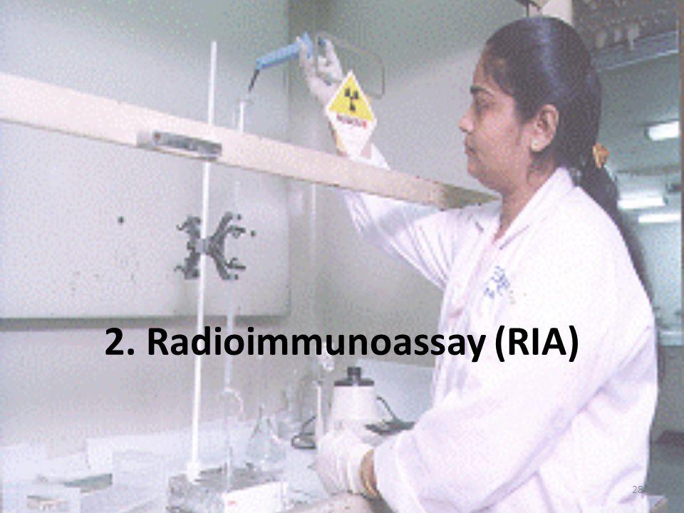 RIA immunoassay: -a keresett fehérje (= antigén) – specifikus antitest komplex -antitest rögzített, pl.