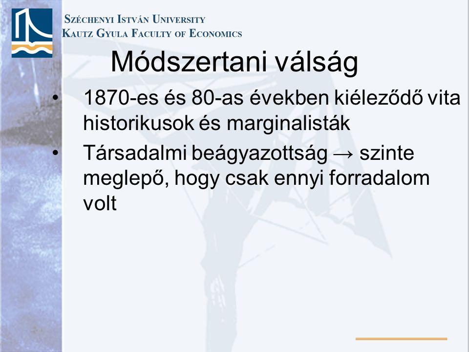 Problémamegoldás Az érték és elosztás problémáinak inkább szőnyeg alá söprése Marshall érdekes jóslata (135.
