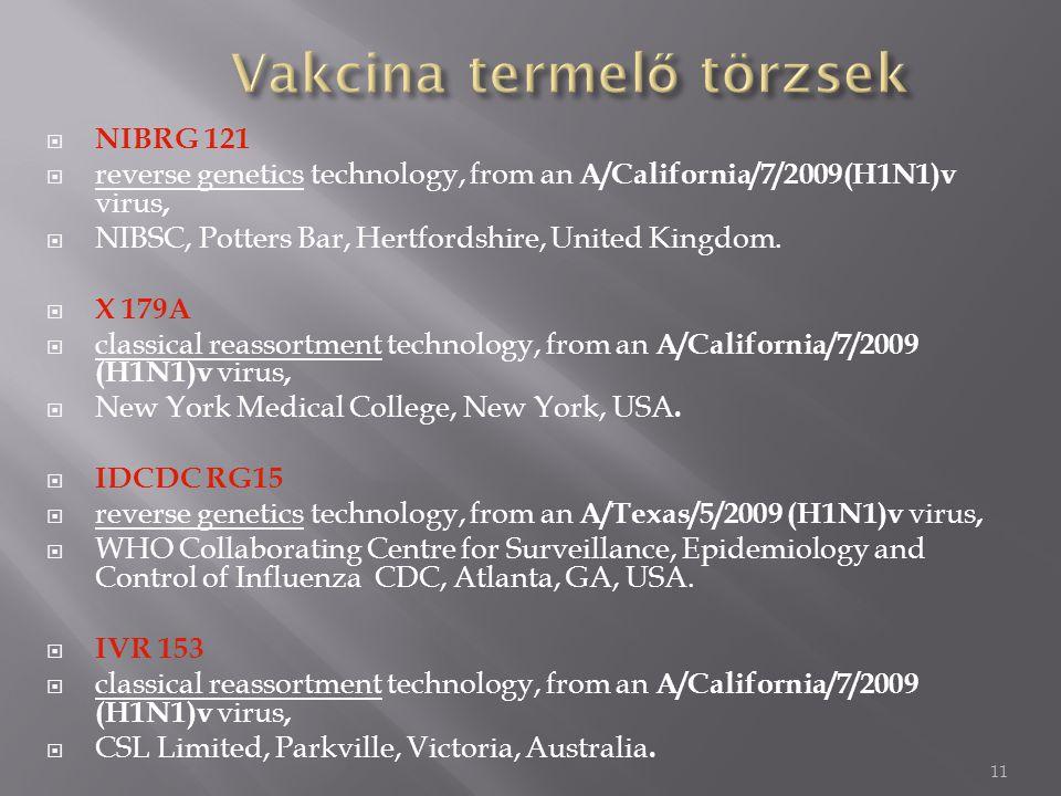 12 Vírus-szaporítás Embrionált tyúktojás Emlős sejttenyészet (90 %) (csirkeembrió) (Majomvese daganat, stb.)