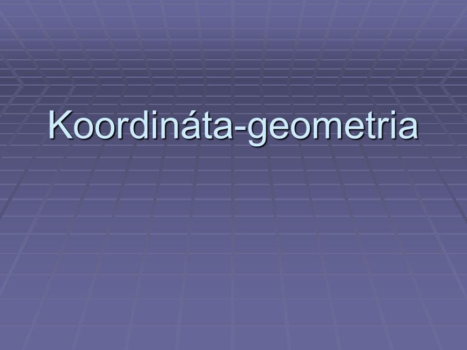 Vektorok a koordináta-rendszerben  A derékszögű koordináta-rendszerben a P (x;y) pont helyvektora az origóból a pontba mutató vektor.