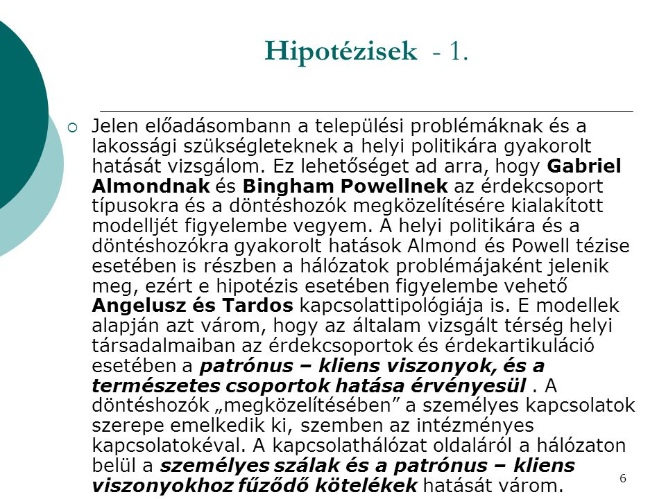 7 Hipotézisek - 2.