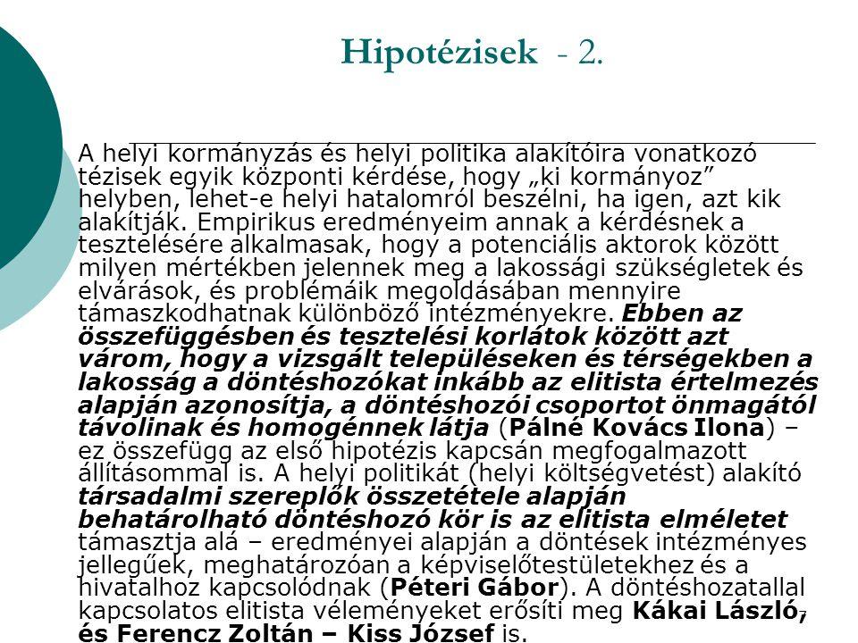 8 Hipotézisek - 3. Harmadik hipotézisem a közszolgáltatásokra vonatkozik.