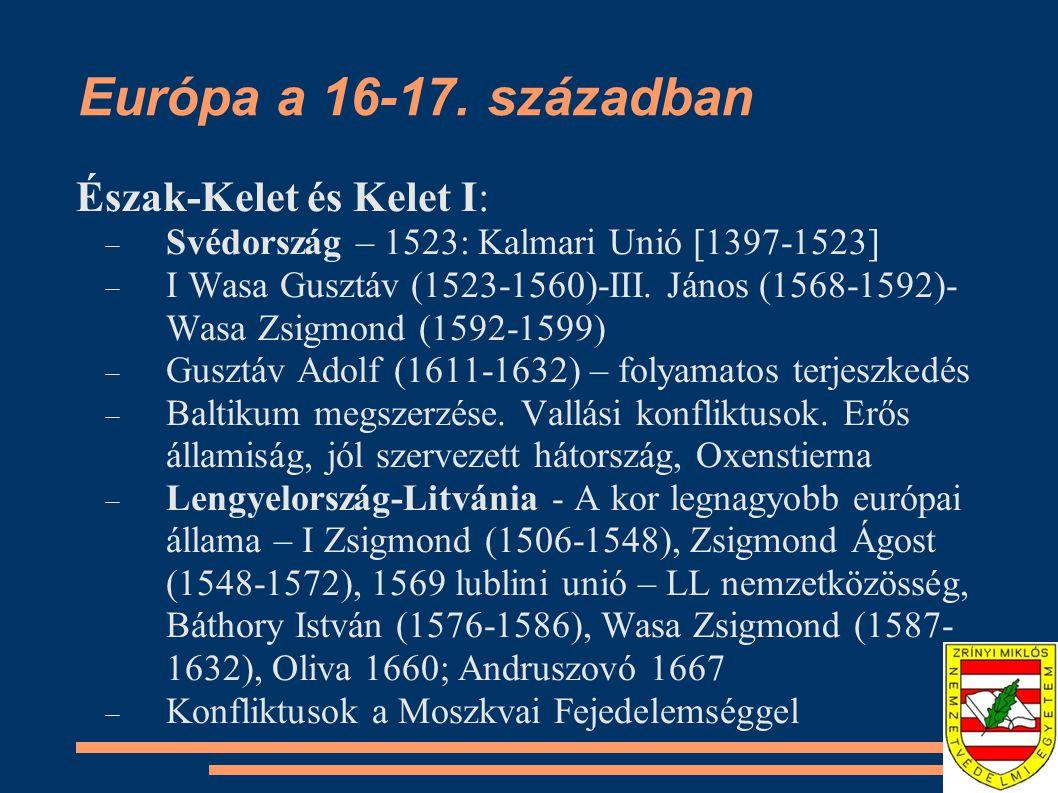 Európa a 16-17.
