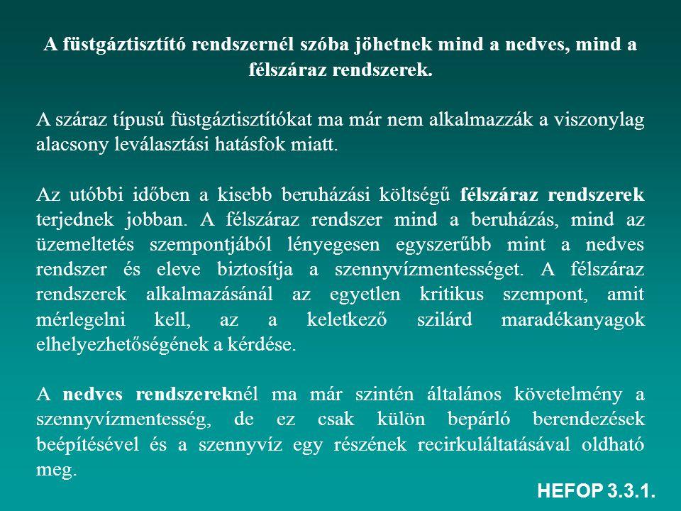HEFOP 3.3.1.A félszáraz füstgáztisztító rendszer: 1.