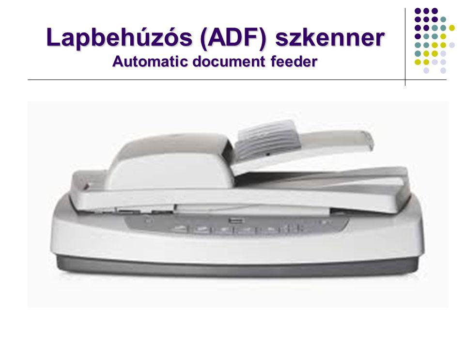 Síkágyas szkenner: Manapság legelterjedtebb a síkágyas szkenner.