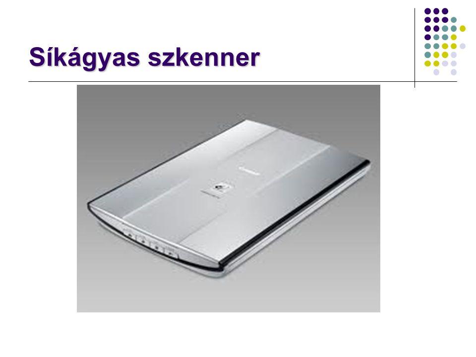 Szkennerek jellemzői felbontás: optikai (fizikai): 1000-1200 dpi logikai (hardveres nagyítás): akár 9600 dpi színmélység: lehetséges színek száma csatlakozás: többnyire már USB régebben printerport, SCSI