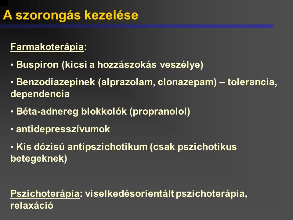 A GAD farmakoterápiája I.