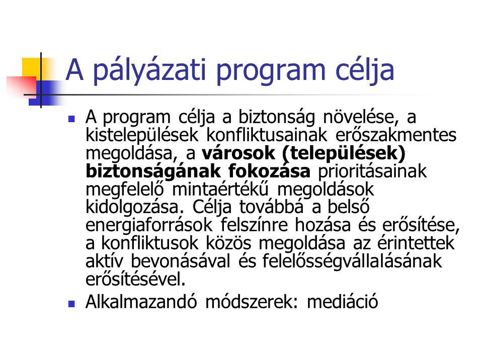 Pályázati nyertesek Partners Hungary Alapítvány Család Gyermek Ifjúság Egyesület Vajna és Szotyori-Nagy Ügyvédi Iroda MH Líceum Alapítvány Foresee Kutatócsoport Nonprofit Közhasznú Kft.