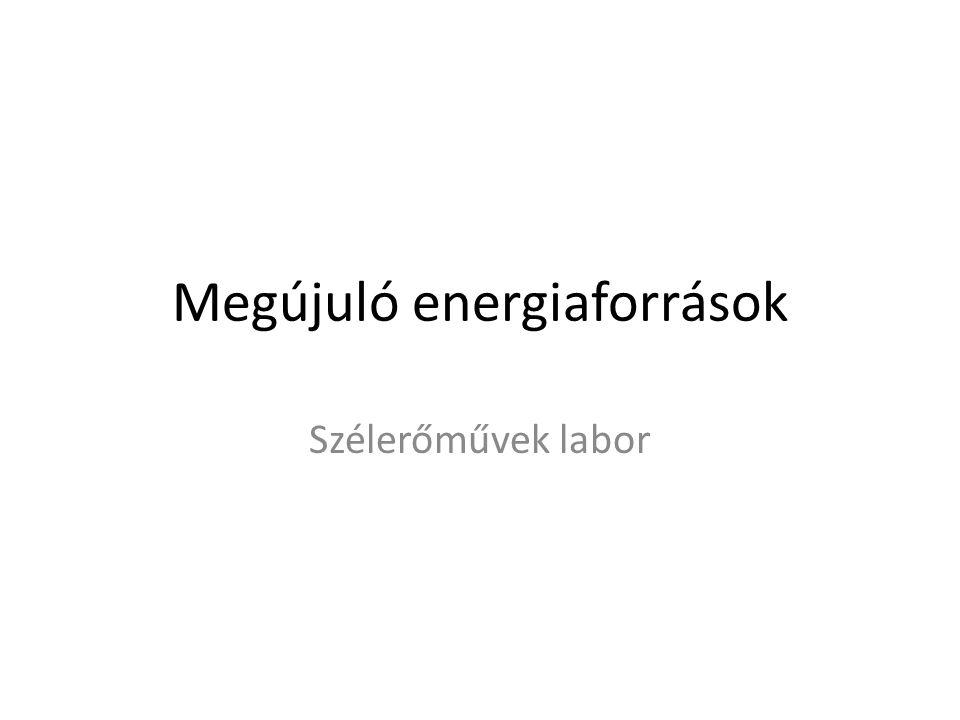 Szélturbina várható termelésének becslése Szélturbina teljesítménye – Szél elméleti teljesítménye – Teljesítménytényező Magyarország széltérképe Szélsebesség eloszlása – Szél elméleti teljesítményének megoszlása – Szélturbina energiatermelése Alaktényező változásának hatása