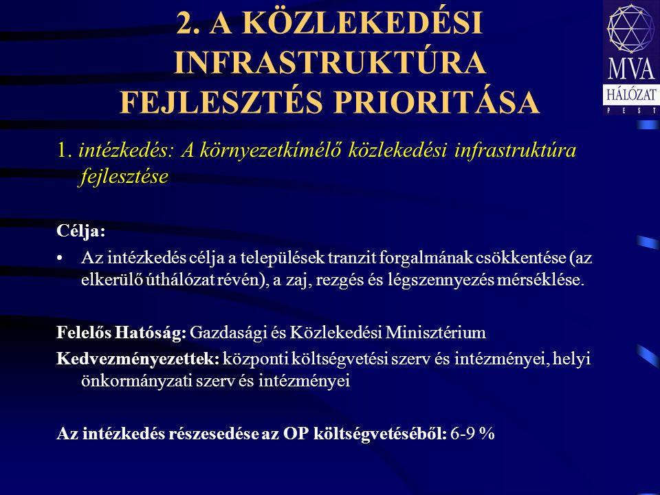 2.A KÖZLEKEDÉSI INFRASTRUKTÚRA FEJLESZTÉS PRIORITÁSA 1.