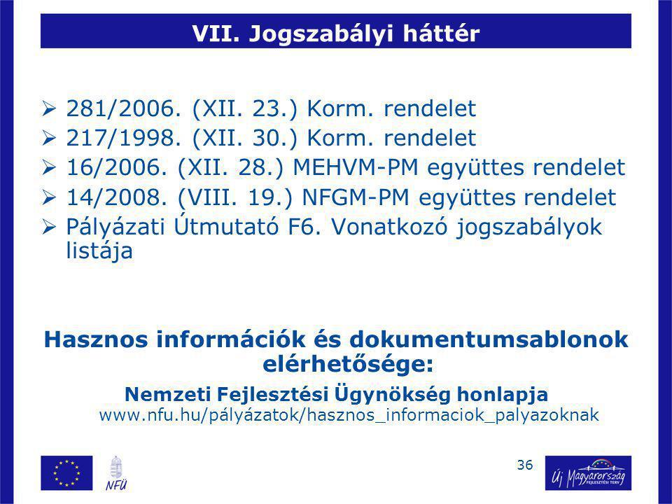 37 Köszönöm megtisztelő figyelmüket.Benkucs László VÁTI Kht.