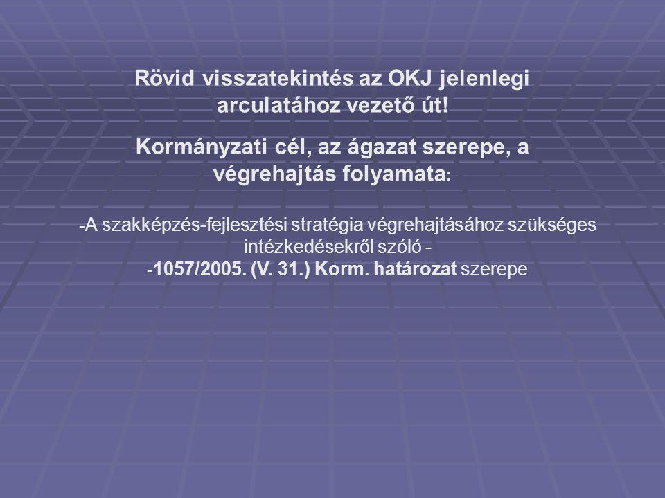 nemzetközi versenyképessége növelése magas színvonalú szakképzés (átjárhatóság, modulrendszer, külföldi munkavállalás lehetősége, vizsgaszervező által biztosított bizonyítvány melléklet) szakmailag jól felkészült munkavállaló (egyén) javul a magyar lakosság szakmai képzettsége (általános megközelítés) eredmény: munkaerőpiacra való könnyebb belépés, megfelelés